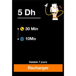 Recharge ORANGE 5 Dirhams