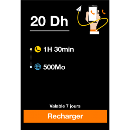 Recharge ORANGE 20 Dirhams